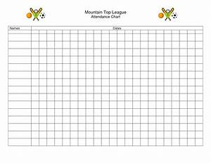10 best images of printable attendance charts for teachers With sunday school calendar template