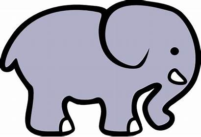 Grey Elephant Clipart Cliparts Clip Cartoon Outline