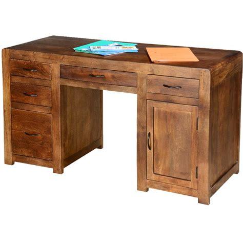 5 Drawer Desk - rustic classic pedestal storage desk with 5 drawer n cabinet