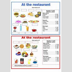 Pairwork  Food  At The Restaurant  Esl Worksheets Of The Day  Pinterest  Restaurant, The