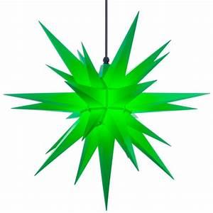 Herrnhuter Stern Beleuchtung : herrnhuter weihnachtsstern a7 gr n aus kunststoff mit ~ Michelbontemps.com Haus und Dekorationen