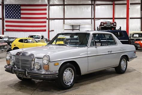1972 mercedes 250c coupe comes in a light blue with a dark blue interior. 1972 Mercedes-Benz 250C for sale #114271   MCG