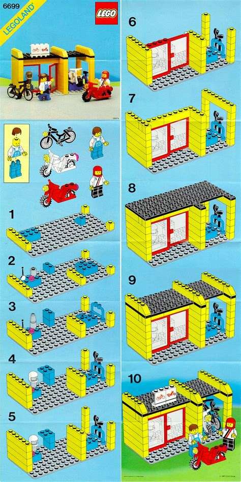 Lego Cycle Fixit Shop Instructions 6699, City