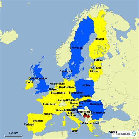 eu staaten eurostaaten von dietzgeo landkarte fuer