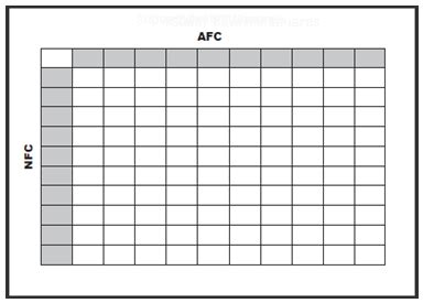 Office Pools For Nfl Super Bowl 52  Football Square Grid