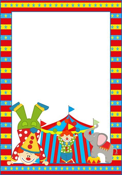 marcos invitaciones tarjetas o etiquetas circo para imprimir gratis cosas para imprimir