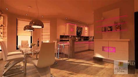 Innenraum Küche Und Esszimmer Wohnzimmer Design Youtube