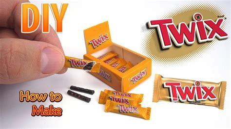 Diy Miniature Twix Bars  Dollhouse  No Polymer Clay