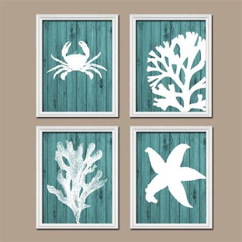 Bathroom Canvas by Bathroom Wall Canvas Artwork Nautical Coral Reef