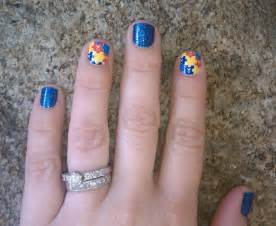 Cute easy nail designs with blue
