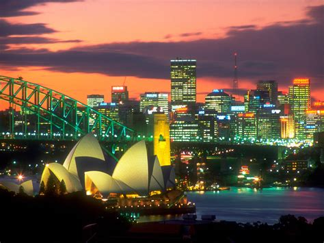 the lights of sydney australia wallpapers