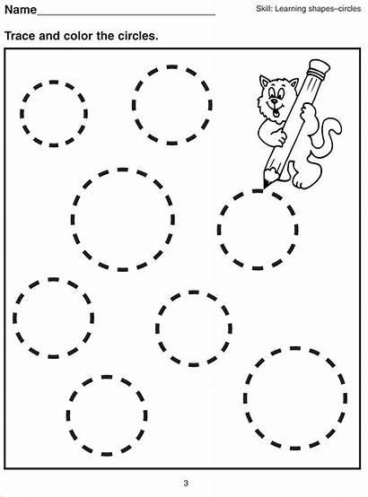 Shapes Worksheets Basic Printable Circle Activity Picphotos