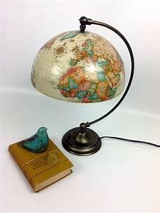 Globus Als Lampe : vintage ivory globe upcycled into lamp with adjustable shade diy pinterest lampen globus ~ Markanthonyermac.com Haus und Dekorationen