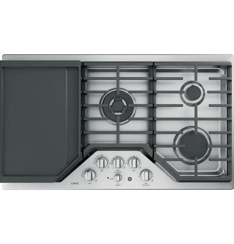 ge cafe series  built  gas cooktop cgpslss ge appliances