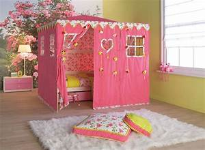 Cool kids room beds with nice tents by life time digsdigs for Kids room for girls