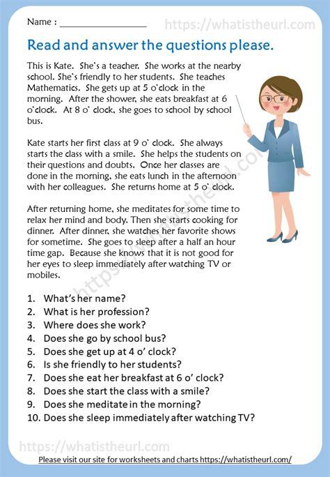 kate  teacher reading comprehension  home teacher