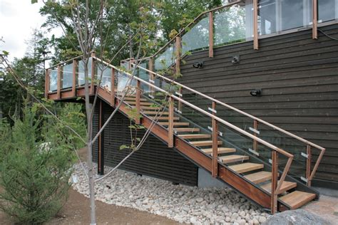 Wooden Handrails For Outdoor Steps - glass and wood railings search glass and wood