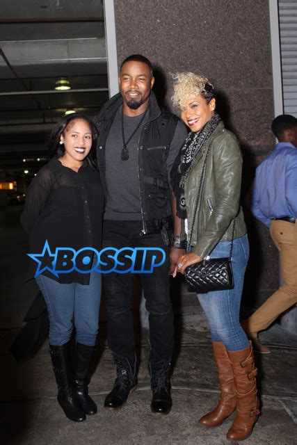 michael jai white   wife gillian spotted  atlanta