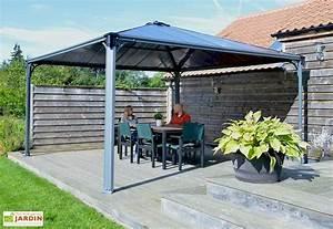 tonnelles adosses excellent pergola bois moderne en mod With amazing auvent de jardin en toile 1 rideaux pour tonnelle de jardin en alu et polycarbonate