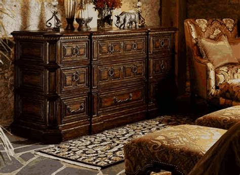 high  master bedroom set carvings  tufted leather
