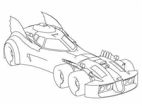 Kleurplaat Batmobiel batmobile coloring page coloring home