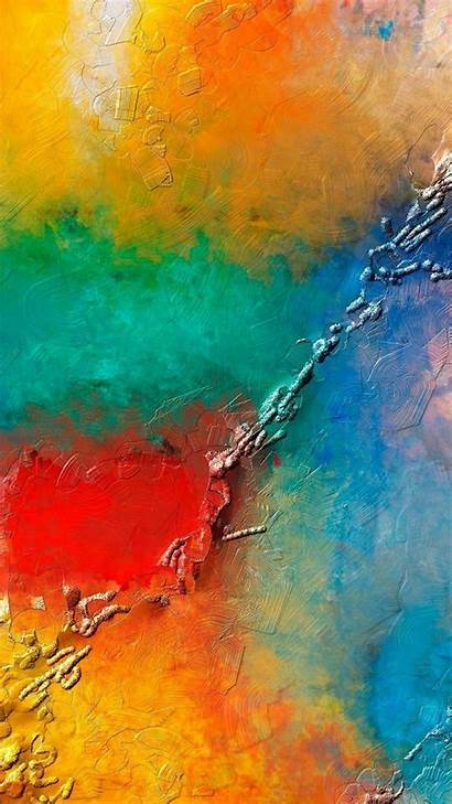 Iphone Texture Paint Colorful Phone Android Wallpapers