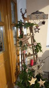 Pinterest Weihnachtsdeko 2018 : haust r deko mit alter leiter weihnachten pinterest ladder decor ladder and christmas ~ Buech-reservation.com Haus und Dekorationen