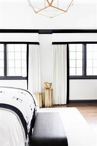 Bednyak Design Black And White Curtains Eclectic Bedroom Sherwin