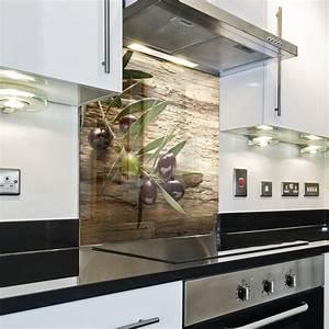 Spritzschutz Für Küche : k chenr ckwand spritzschutz k che geh rtetes glas r ckwand olive natur h lzern eur 46 98 ~ Buech-reservation.com Haus und Dekorationen