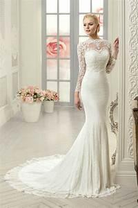 vestido de noiva sexy mermaid wedding dress long sleeve With long sleeve lace wedding dress white