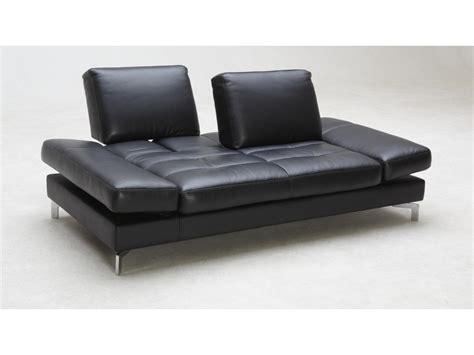 canap 233 3 places convertible cuir nefertiti noir ou blanc