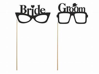 Props Booth Bride Groom Glasses