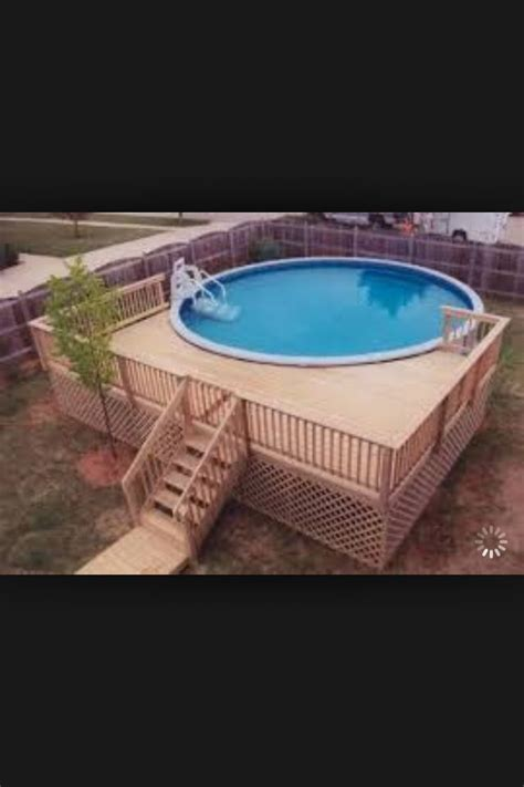 idea  pool outsideyard pinterest decking