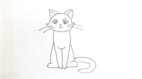 draw  cartoon cat sitting youtube