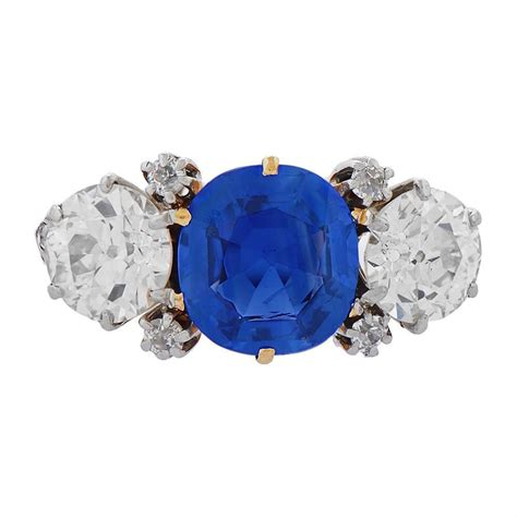je caldwell   kashmir sapphire engagement ring