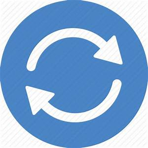 Blue, circle, refresh, reload, rotate, sync, update icon ...
