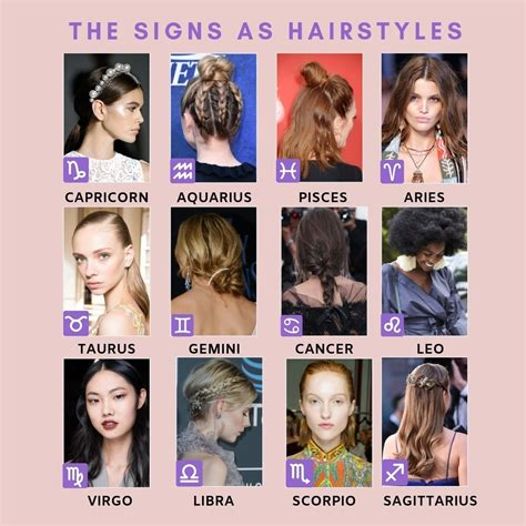 zodiac hairstyles pinpottery