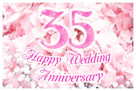 buy 35th birthday wedding anniversary sparkling 35th wedding anniversary ecard greetingshare