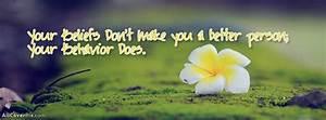 Beautiful Behavior Quote Cover Photo Fb