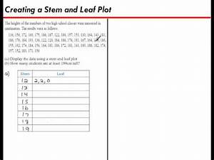 creating a stem and leaf plot youtube With stem and leaf plot template