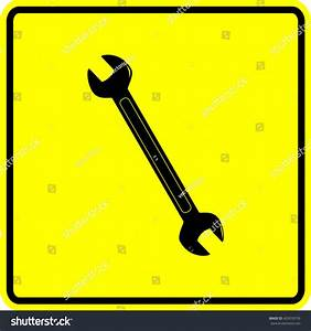 Open End Wrench Sign Stock Vector Illustration 429559759 ...