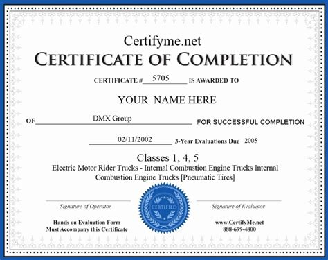 equipment operator certification card template beautiful