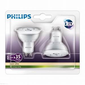 Led Lampen Philips : philips led lamp spot 35w gu10 set van 2 lampen ~ Kayakingforconservation.com Haus und Dekorationen