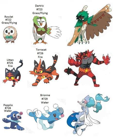 pokemon sun  moon starter evolution  shironakarius  pokemony pokemon