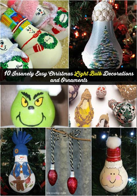 10 insanely easy light bulb decorations and ornaments diy crafts - Christmas Lights For Crafts