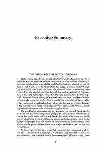 5 executive summary in apa format financial statement form With apa format executive summary template