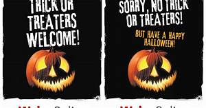 Letters Of Complain Halloween Posters Get Ready For Trick Or Treaters By