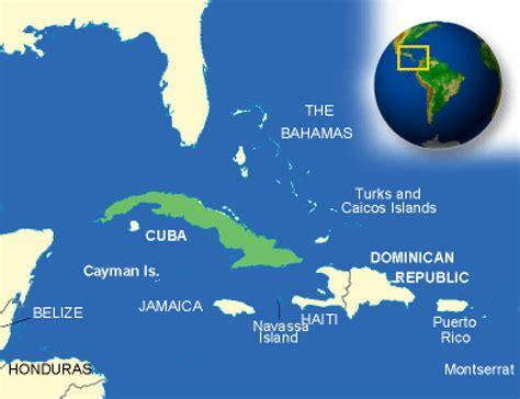 Map Cuba Terrain Area Outline Maps