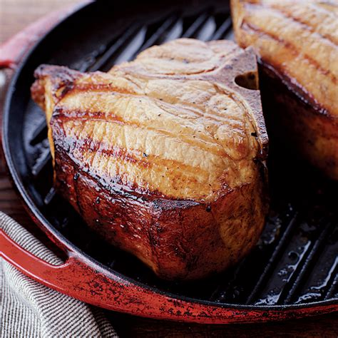 pork chop brine beer brined grilled pork chops recipe dishmaps