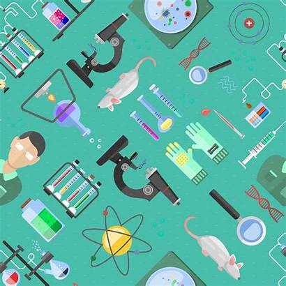 Science Background Biology Vector Illustrations Laboratory Creative